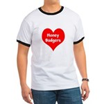 Big Heart Honey Badgers Ringer T