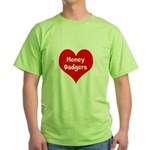 Big Heart Honey Badgers Green T-Shirt
