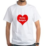 Big Heart Honey Badgers White T-Shirt