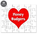 Big Heart Honey Badgers Puzzle