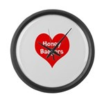 Big Heart Honey Badgers Large Wall Clock