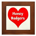 Big Heart Honey Badgers Framed Tile