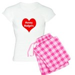 Big Heart Honey Badgers Women's Light Pajamas