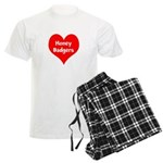 Big Heart Honey Badgers Men's Light Pajamas