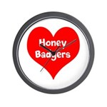 Big Heart Honey Badgers Wall Clock