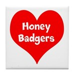 Big Heart Honey Badgers Tile Coaster