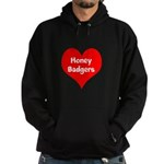 Big Heart Honey Badgers Hoodie (dark)