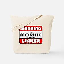 Morkie LICKER Tote Bag