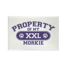Morkie PROPERTY Rectangle Magnet