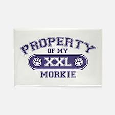 Morkie PROPERTY Rectangle Magnet
