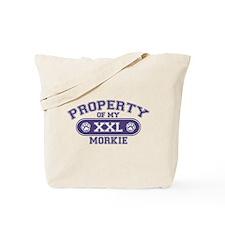 Morkie PROPERTY Tote Bag