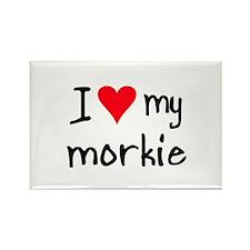 I LOVE MY Morkie Rectangle Magnet (10 pack)