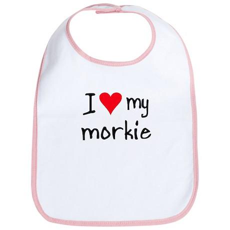 I LOVE MY Morkie Bib