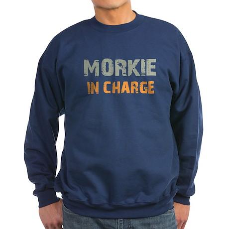 Morkie IN CHARGE Sweatshirt (dark)