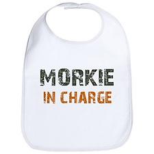 Morkie IN CHARGE Bib
