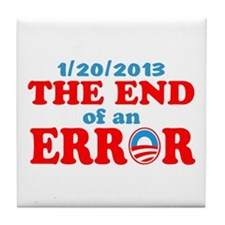 End of an Error! Inauguration day Tile Coaster
