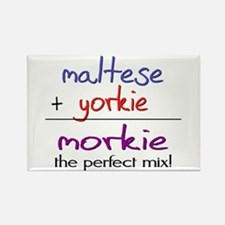 Morkie PERFECT MIX Rectangle Magnet