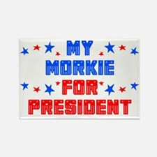 Morkie PRESIDENT Rectangle Magnet