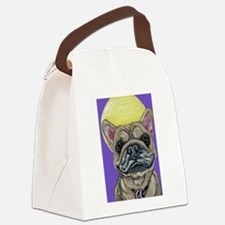 French Bulldog Smile Canvas Lunch Bag