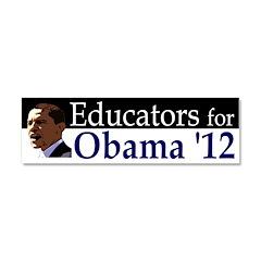 Educators for Obama 2012 Car Magnet