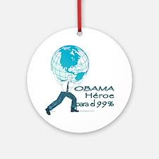 Obama,Heroe para 99% Ornament (Round)