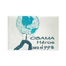 Obama,Heroe para 99% Rectangle Magnet