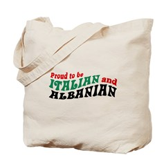 Proud Italian Albanian Tote Bag