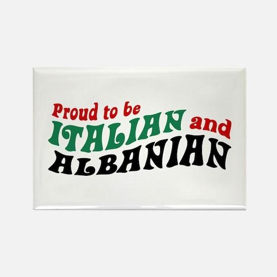 Proud Italian Albanian Rectangle Magnet