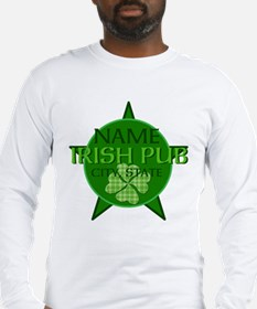 Custom Irish Pub Long Sleeve T-Shirt