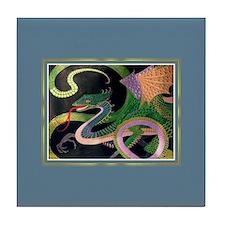 Gold/ Prussian Dragon Tile Coaster
