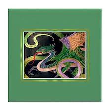 Gold/Jade Dragon Tile Coaster