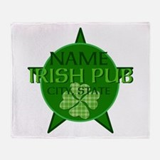 Custom Irish Pub Throw Blanket