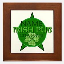 Custom Irish Pub Framed Tile