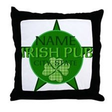 Custom Irish Pub Throw Pillow
