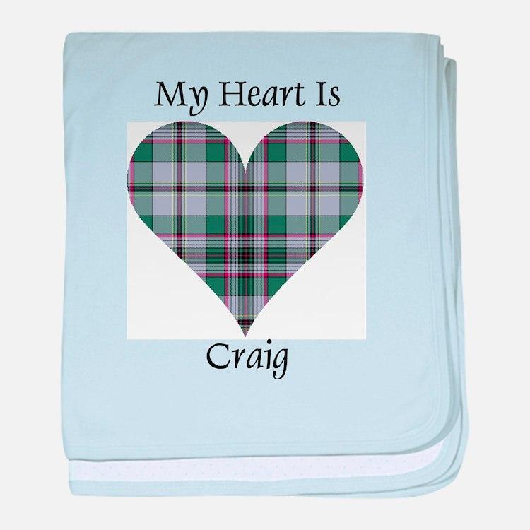 Heart - Craig baby blanket