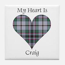 Heart - Craig Tile Coaster