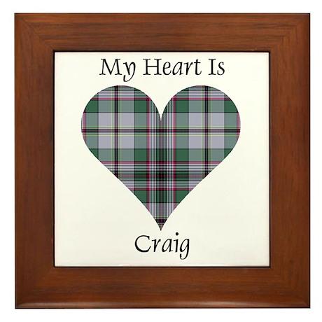 Heart - Craig Framed Tile
