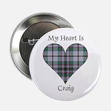 "Heart - Craig 2.25"" Button"