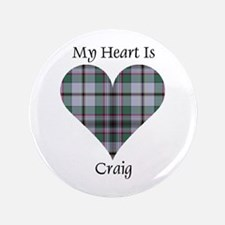 "Heart - Craig 3.5"" Button"
