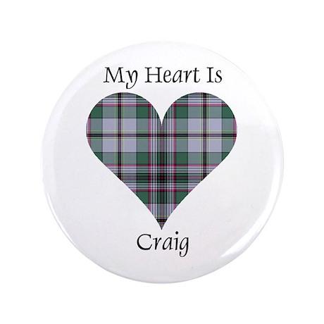 """Heart - Craig 3.5"""" Button (100 pack)"""
