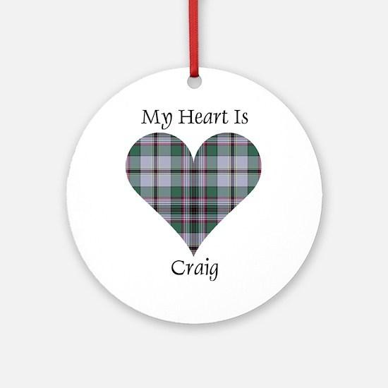 Heart - Craig Ornament (Round)