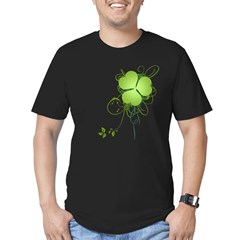Shamrock [swirls] Men's Fitted T-Shirt (dark)