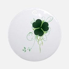 Shamrock [swirls] Ornament (Round)