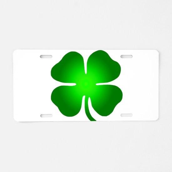 Four Leaf Clover Aluminum License Plate
