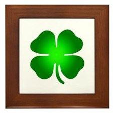 Four Leaf Clover Framed Tile