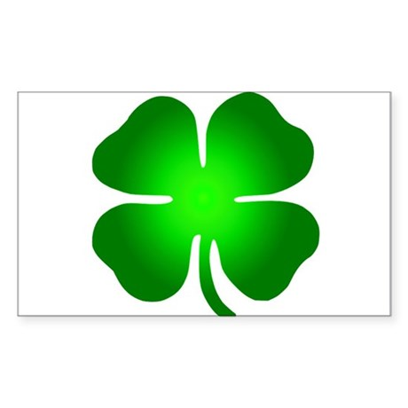 Four Leaf Clover Sticker (Rectangle)
