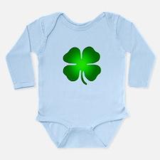 Four Leaf Clover Long Sleeve Infant Bodysuit