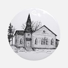 Old Country Church Ornament (Round)