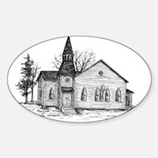 Old Country Church Decal