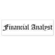 Financial Analyst Bumper Bumper Sticker